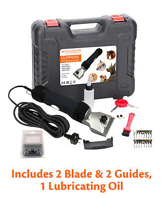 380W Electric Dog Clipper Horse Pet Hair Grooming Kit Comb Blade Animal Trimmer