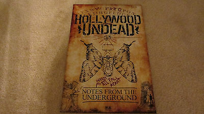 HOLLYWOOD UNDEAD Notes from the underground 2013 heavy stock promo poster