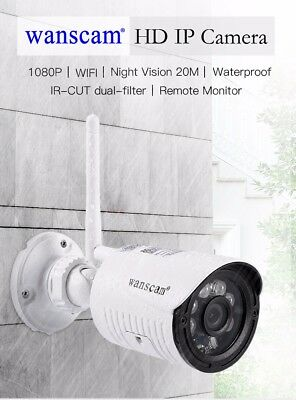 2Mp 1080P Hd H.264 Wireless Wifi Ip Camera Security Cctv P2P Outdoor Garage Cam