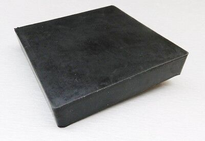 """RUBBER BENCH BLOCK 4""""x4"""" JEWELRY MAKING DAPPING METAL FORMING HAMMERING STAMPING"""