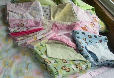 """Handmade Receiving Blanket Very Large 36""""x36"""" Double Sided"""