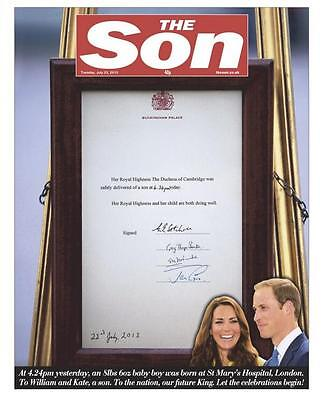 Prince William And Kate Middleton Birth Of Royal Baby The SUN Newspaper