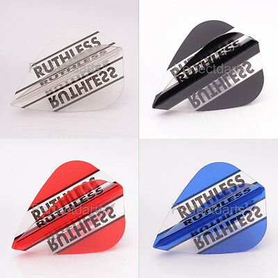 10 SETS RUTHLESS CLEAR PANELS KITE DART FLIGHTS, Stripes, Extra Strong 4 Colours