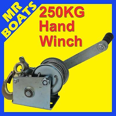 BOAT HAND WINCH ✱250KG✱ GALVANISED 4 SALT MARINE PROTECTION Boats PWC FREE POST