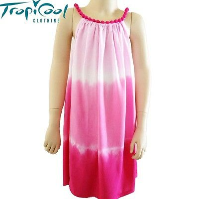 Girls Tie Dye Bobble Beach Dress | Pink