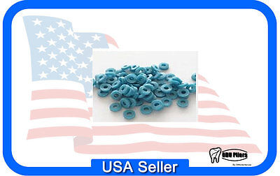 1000 X -Ray Opaque ORTHODONTIC LOOSE SEPARATORS BLUE Dental Supplies 1221-DY