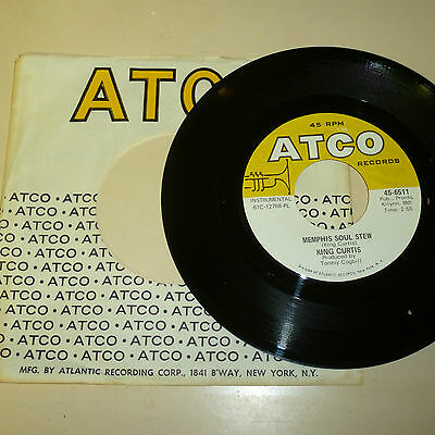 Northern Soul 45Rp Record With Company Sleeve - King Curtis - Atco 6511
