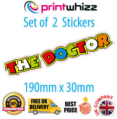 "2 x 8"" The Doctor Valentino Rossi Stickers Decals Quality Printed Vinyl Label"