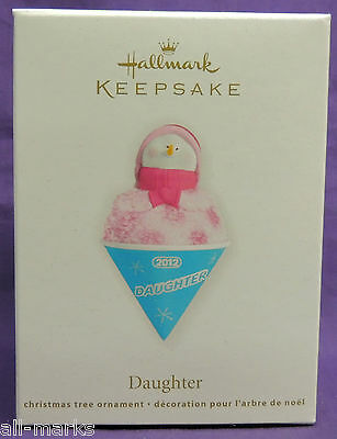 Daughter~Snowcone Family~2012~Hallmark~MIB