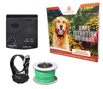 Waterproof Hidden Electric Dog Fence System Deluxe Fencing Collar Containment