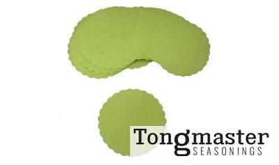 "Green Scalloped Wax Burger Discs - 5"" - (250 Pack / Spare)"