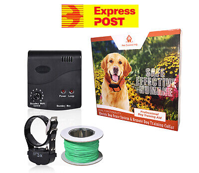 Waterproof electric dog fence system fencing 1 collar hidden deluxe containment