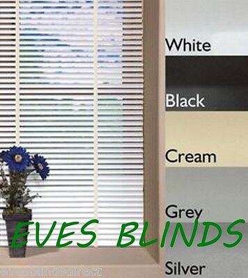 MADE TO MEASURE Aluminium Metal Venetian Blind White Cream Silver Black 25mm