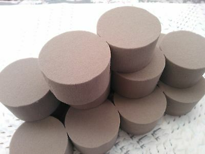 12 x Oasis Dry SEC Floral Foam Rounds / Cylinders For Dried & Silk Flowers