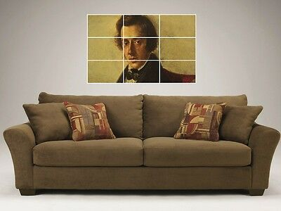 """Frederic Chopin  Mosaic 35""""x25"""" Inch Wall Poster Composer"""