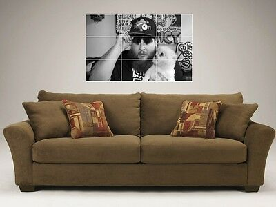 "Action Bronson Mosaic 35""x25"" Inch Wall Poster"