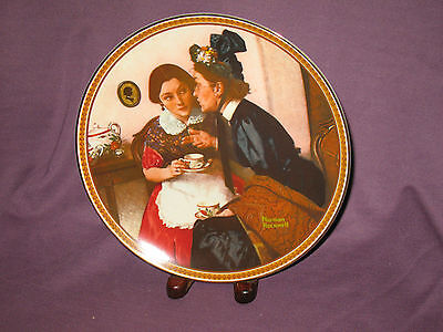 Knowles Norman Rockwell Collector Plate Gossiping in the Alcove Women