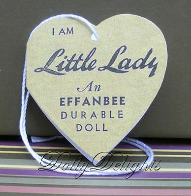 Reproduction Wrist Hang Heart Tag Made For Effanbee LITTLE LADY