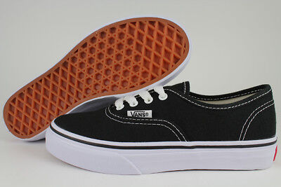 Vans Authentic Black/White Classic Skate 0Ee0Blk Boys Girls Kids Us Youth Sizes
