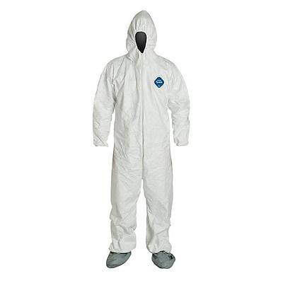 Dupont White Tyvek Coverall Suits TY122SWH w/ Attached Hood & Booties