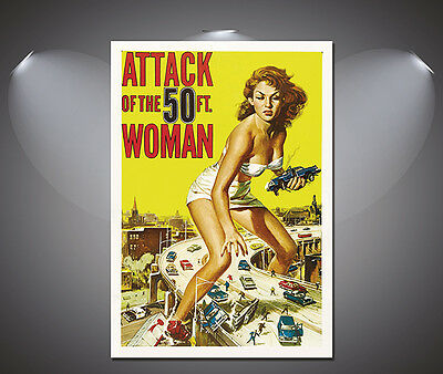 Attack of the 50ft Woman Vintage Movie Poster - A1, A2, A3, A4 sizes