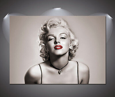 Marilyn Monroe Red Lips Vintage Movie Poster - A1, A2, A3, A4 sizes