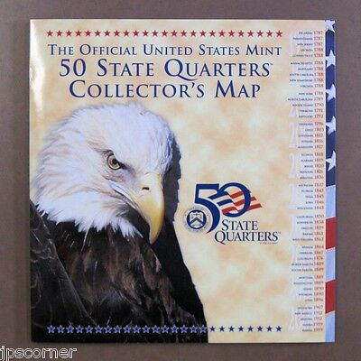 Official US Mint State Quarter Map for 50 State Quarters