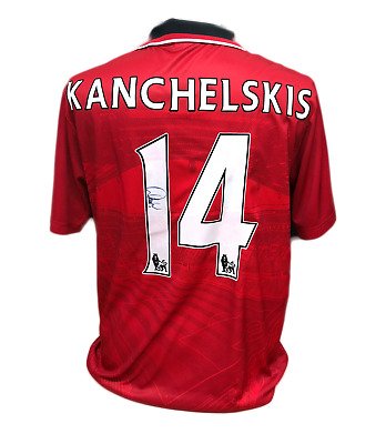 Andrei Kanchelskis Signed Manchester United 14 Shirt See Proof