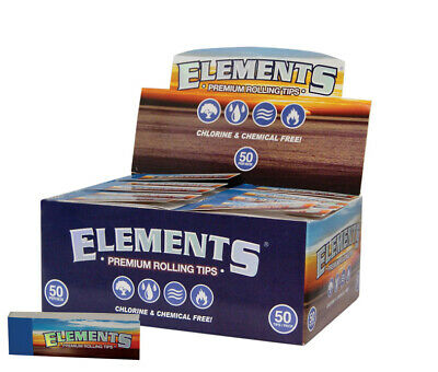 1 Box (50x) Elements Filter Tips slim unperforiert 2500 Filtertips unperforated