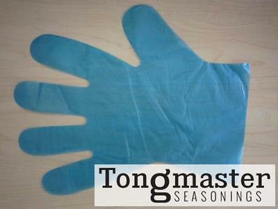 Disposable Polythene Food Grade Gloves - Medium Blue - 100 pack