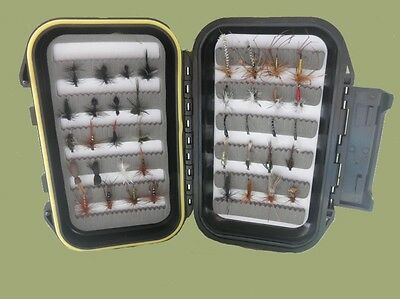 40 Summer Trout Fishing Flies -  Boxed Set, Mixed Sizes and Varieties, Good Gift