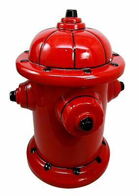 """10""""H Ceramic Cookie Jar Kitchen Accessory Decor Top Lid Fire Hydrant Collectible"""