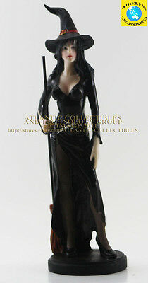 "Mythical Witches Decorative Rosina Dark Maiden of Fantasy Figurine 9.75"" Height"
