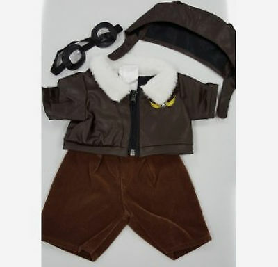 """TEDDY BEAR PILOT Outfit w/GOGGLES CLOTHES Fit 14""""-18"""" Build-a-bear !!NEW!!"""