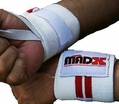 MADX Wrist Straps Power Weight Lifting Hand Wraps Elastic Bandage Gym Training