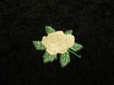 """Kappa Delta Sorority White Rose Embroidery Patch  2.25"""" x 2"""" FREE SHIPPING"""