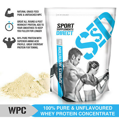 5KG 100% PURE WPC  - 5 x 1KG PURE PASTURE RAISED WHEY PROTEIN CONCENTRATE