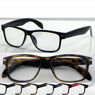 L142H Wayfarer Reading Glasses+Case/Super Classic Style/Large Frame Nerd Glasses