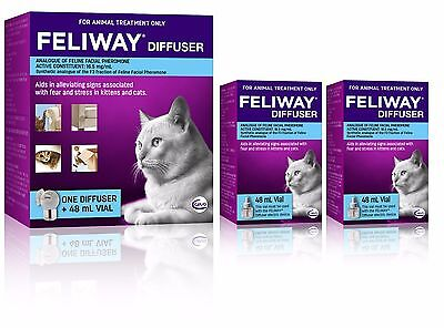 Feliway Diffuser Set & 2 Additional 48mL Refills - Constant Calming and Comfort