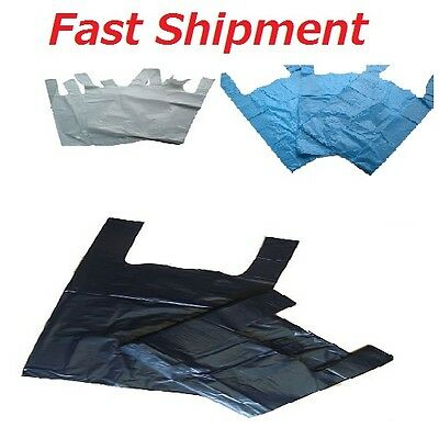 Carrier Bags  Plastic Vest Carrier Bags Blue Or White Or Black  All Sizes