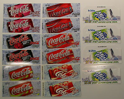 Soda Can Vending Machine Flavor Strips 16 pcs assorted Coke and Sierra Mist