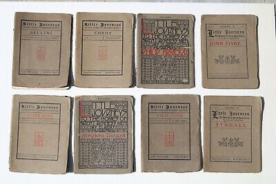 8 Magazines by Roycroft Elbert Hubbard's Little Journeys 8 Antique Issues