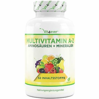 A-Z Multivitamine & Mineralien 350 Tabletten - 32 Wirkstoffe Multivitamin vegan