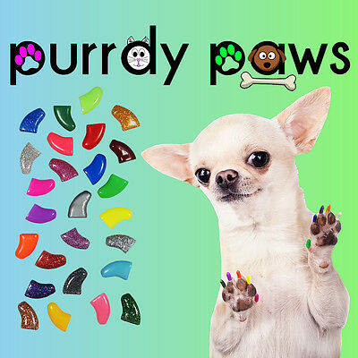 10 Pack Soft Nail Caps For Dog Claws * Purrdy Paws * USA * 23 Colors and 6 Sizes