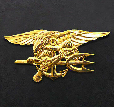 US Navy Special Warfare SEAL Team Trident Insignia Metal Badge Pin - Full Size