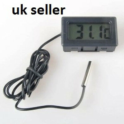 Digital LCD Fish Koi Garden Pond Water Temperature Thermometer Uk Seller
