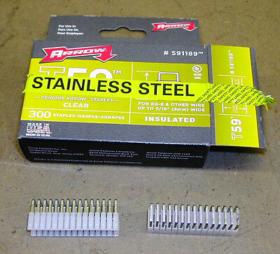 """Arrow Fastener 591189SS 5/16"""" Insulated Staples"""