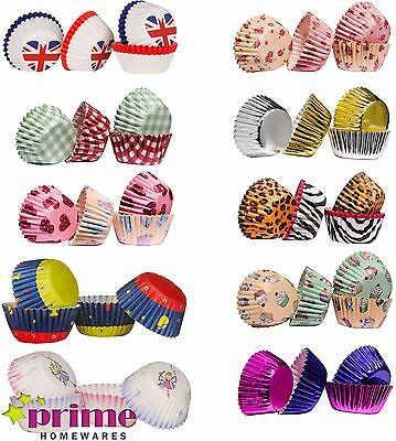 100 Cupcake Cases, Mini Quality Paper Baking Cases, Various Designs Available