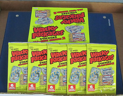 WACKY PACKAGES ANS2 SEALED 5 UNOPENED PACKS IN EXCELLENT CONDITION