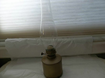 Arts & Crafts Brass Oil Lamp Marked Ouvrard & M. Villars Dte S.g.d.g.paris